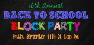 2015 Back to School Block Party logo
