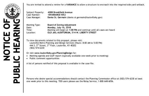 18VARIANCE1052_Notice+for+07-16-18+BOZA+Gov+Delivery